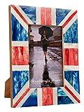 Union Jack Souvenirs Bilderrahmen Deko handgefertigt Naturals Bone britischen Flagge Frames Foto Größe 4X 6& 12,7x 17,8cm, multi, 10 x 15 cm