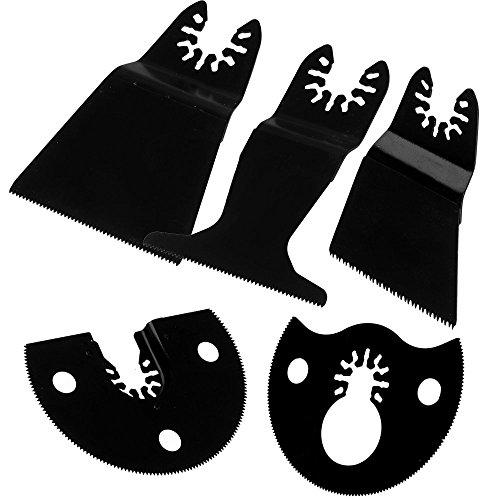 cnbtr schwarz High Carbon Stahl Sägeblätter Pendelndes Multitool Präzisions Quick Release Set von 5