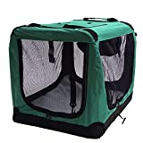 QNMM Leichter Stoff Pet Carrier Indoor & Outdoor Pet Home Airy Windows Reduziert Angst Pet Carrier & Travel Crate,S