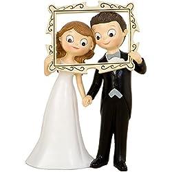 Figura novios boda Photocall cuadro divertido 25.5 cm