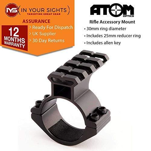 Atom Optics Gewehr Umfang Zubehör Halterung / 30mm+25mm Taschenlampenhalterung / Laser Halterung + Weaver Schiene (Weaver-schiene Halterungen)