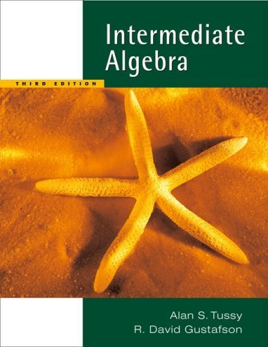 Intermediate Algebra, Updated Media Edition (with CD-ROM and MathNOW(TM), Enhanced iLrn(TM) Math Tutorial, Student Resource Center Printed Access Card) (Available 2010 Titles Enhanced Web Assign) by Alan S. Tussy (2006-01-24) par Alan S. Tussy