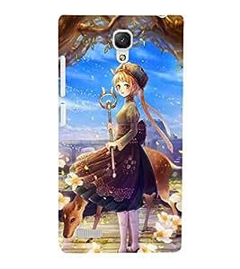 PrintVisa Designer Back Case Cover for Xiaomi Redmi Note :: Xiaomi Redmi Note 4G :: Xiaomi Redmi Note Prime (Animated Young Princess)