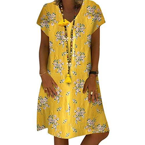 123a76dba Mujer Verano De Playa Vestido De Verano Vestido Mujer Camiseta Casual  Tallas Grandes Vestido De SeñOras Vestidos De Playa, Women Short Sleeve  Dress ...