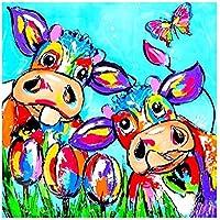 AFVYH Diamante Pintura Vacas DIY Caliente de Dibujos Animados Venta Directa de la fábrica Lienzo sin