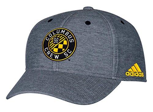 Columbus Crew Adidas MLS Heather Gray Tri-Blend Structured Adjustable Hat Hut (Columbus Crew Hat)