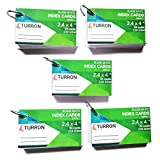 #5: Turron Set of 5 Small ( 2.4 x 4 inch) Binding Ringed Blank White Index Flash Cards (54 cards per set, 220 gsm) suitable for Exam Preparation, Cheat Sheets, Short Notes, Syllabus Revision