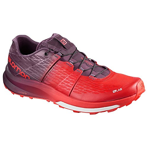 Salomon S/Lab Sense Ultra 2, Chaussures de Randonnée Basses Mixte Adulte, Rouge, 4 UK