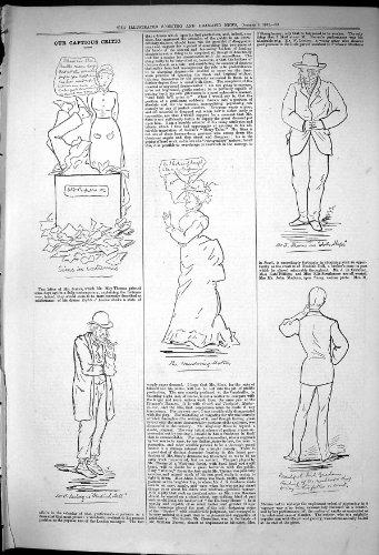 1881 Croquis Insidieux de Boîte De Papier d'Espoir de Thorne John de Théâtre de Jack Graham de Critique