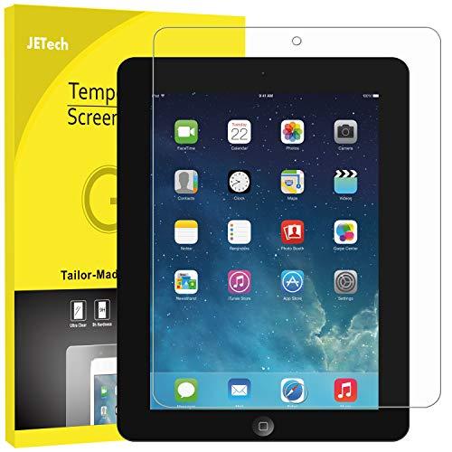 JETech Schutzfolie für iPad 4, iPad 3 und iPad 2, Gehärtetem Glas Displayschutzfolie (Ipad 4 Screen Protector)