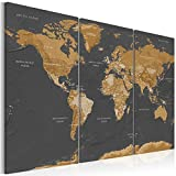murando - Bilder 135x90 cm - Leinwandbilder - Fertig Aufgespannt - Vlies Leinwand - 3 Teilig Wandbilder XXL - Kunstdrucke - Wandbild - Weltkarte Karte k-A-0104-b-g