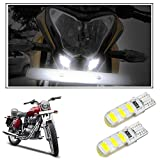 #9: Vheelocityin Scooty / Bike High Power Silicone White LED Parking Bulbs (set of 2) For Royal Enfield Bullet Electra Twinspark