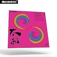 SANWEI T-88 TAIJI suave revestimiento de tenis de mesa TT-combinado con tensión interior 36° Rojo rojo