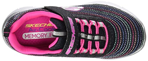 Skechers Appeal 2.0 Mini Metal, Sneakers Basses Fille Noir (Bkmt)