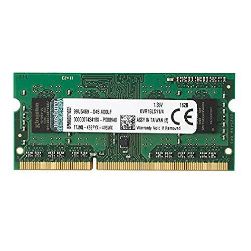 Kingston KVR16LS11/4 Arbeitsspeicher 4GB (DDR3L Non-ECC CL11 SODIMM 1,35V, 204-pin 1,5V) -