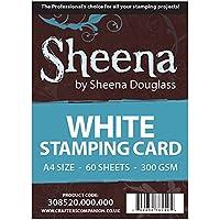 Crafter 's Companion Sheena Douglass de sellar Card, A4, 60Unidades, Color Blanco