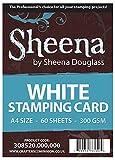 Unbekannt Crafter's Companion - A4 Sheena Douglass Stempel-Karton, 60 Blatt, Weiß