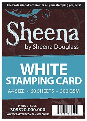 Unbekannt Crafter's Companion - A4 Sheena Douglass Stempel-Karton, 60 Blatt, Weiß (Cardstock Papier Weißen)