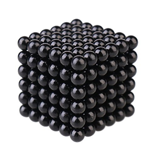 "216 Pieces of 0.19"" Fun Magnetic Office Toy Play Ball Magnetism Science Kits (Black)"
