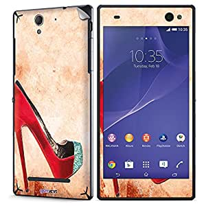GsmKart SXC3 Mobile Skin for Sony Xperia C3 (Red, Xperia C3-849)