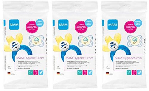 MAM Hygienetücher, 3er Pack (3 x 24 Stück)