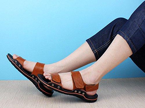 Ao Vermelho Ar Dos Chinelos Vadear Sapatos Sandálias Livre Homens qwn46gxOp