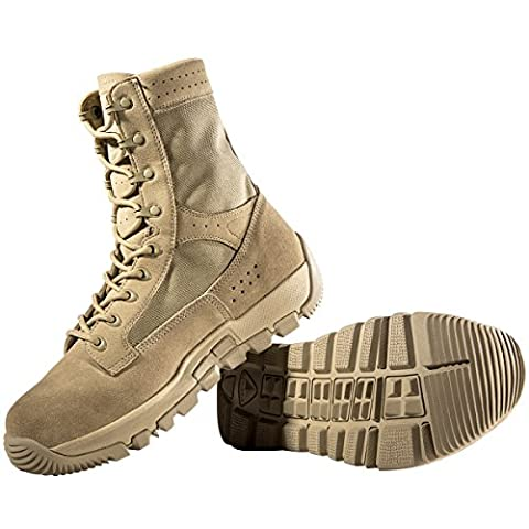 FREE SOLDIER Men's Military Patrol Work Hiking Boots Tactical Stellar Shoes Leather Desert Combat Boots (Sandy UK6)