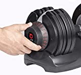 DialTech Hantelsystem - Einstellbare Hantel von 5 bis 32,5 KG im Set