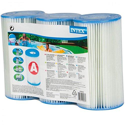 INTEX 3er Set Kartusche für Easy-Set Pool Planschbecken Poolpumpe Pumpe Filter Lamellenfilter NEU