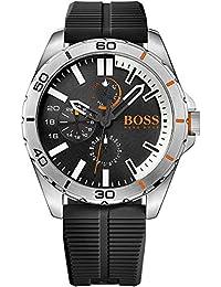 BOSS Orange Herren-Armbanduhr BERLIN Multieye Analog Quarz Silikon 1513290