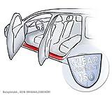 Lackschutzshop Einstiegsleisten Türeinstiege passend für VW Tiguan II - TRANSPARENT