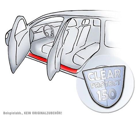 Compatible avec : seat ibiza (4ème génération, 8 pièces pour 4 portes, baguettes de seuil de porte/türeinstiege, lackschutzfolie pour einstiege 150µm transparent