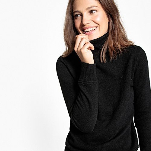 La Redoute Collections Donna Pull Collo Dolcevita, 100 Cachemire Nero