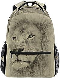 01d5bc2013 COOSUN Fronte del leone casuale Daypack sacchetto di scuola dello zaino di  viaggio fronte del leone