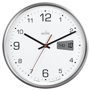 Acctim Kalendar 22367Büro Digital Tag Datum Bold Quarz-Wanduhr