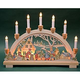 Schwibbogen-Lichterbogen-Bescherung-10flammig-innenbeleuchtet-farbig-Weihnachten-Advent-Geschenk-Dekoration-10792