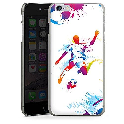 Apple iPhone 6s Plus Silikon Hülle Case Schutzhülle Fußball Sport Stürmer Hard Case anthrazit-klar