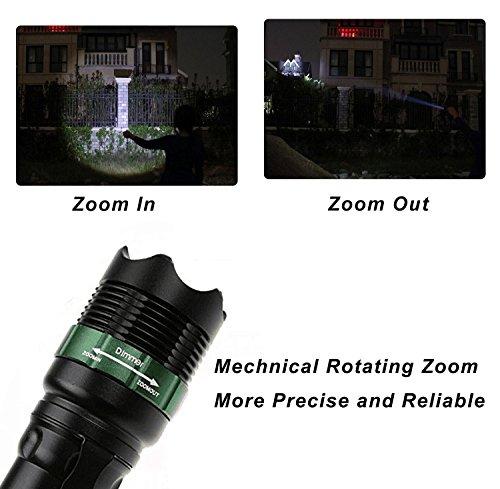 Taschenlampe LED Wasserdicht Taschenlampe Militär Camping Bike Mount Focus schwarz Lampe NEU (Mount Amp)