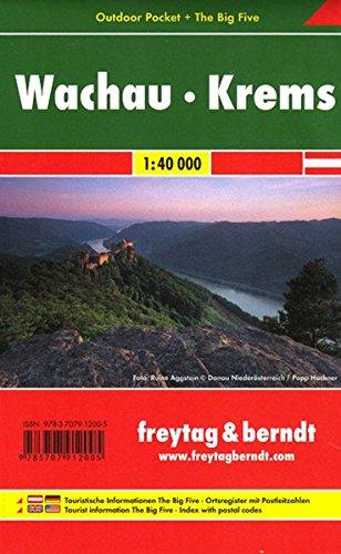 Freytag Berndt Wanderkarten, Wachau - Krems, Outdoor Pocket + The Big Five, wasserfest - Maßstab 1 :40 000 (freytag & berndt Wander-Rad-Freizeitkarten)