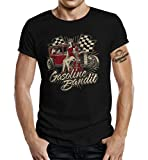 Rockabilly Racer Hot Rod T-Shirt: Guitar Pinup XL