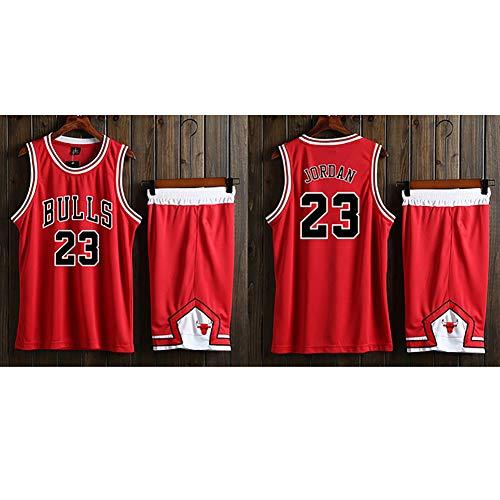 Basketballuniformen, Trainingsanzüge für Herren, Basketballwesten Bulls 23 Michael Jordan, Tops/Kurze Anzüge, atmungsaktive Feuchtigkeit, schnell trocknende Stoffe.-XXXXL (Michael Jordan Kostüme)