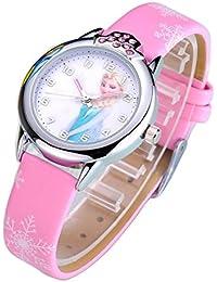 Disney Frozen children kids cartoon Watches leather Watch WP@KTWBS001P
