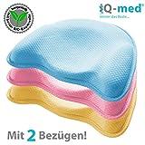 Babykissen Premium von iQ-med | aus BIO-Baumwolle | gegen Plattkopf (Blau)