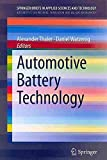 Automotive Battery Best Deals - [Automotive Battery Technology] (By: Daniel Watzenig) [published: February, 2014]