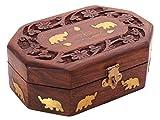 Best Cajas de joyería IndiaBigShop - IndiaBigShop Caja de almacenamiento de joyería hecha a Review