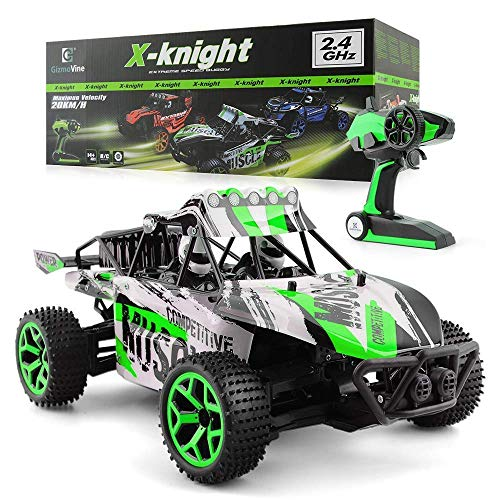 Remote Control Car Large Size 1:18 Scale 4WD High Speed RC Racing Vechile 2.4Ghz Radio Control Truck for 3 Years Old Up Kids (Green)