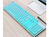 OHlive Großartig ABS Runde Key Caps Hintergrundbeleuchtung für Querachse mechanische Tastatur (blau)