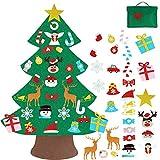 Vlovelife Vilt Kerstboom Voor Kinderen/peuters met 30 stks Opknoping Ornamenten & Opbergtas, DIY Xmas Boom voor Vakantie Party Home Decor Kids Xmas Gift
