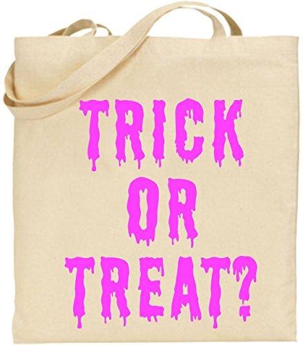 tasche Trick or Treat Halloween Cool Scary gruseliges Geschenk Cute Umweltfreundlich wiederverwendbar Natural Handtasche für Damen (Machen Trick Oder Treat Taschen)