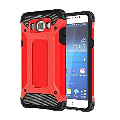 Skitic Etui Housse Coque Anti Choc pour Samsung Galaxy J7 2016 (SM-J710F), 2 en 1 Hybride Armour Case TPU + PC Incassable Back Cover Rigide Coque de Protection pour Samsung Galaxy J7 2016 Smartphone par Skitic